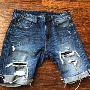 Express jean shorts for men
